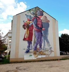 Meditative Murals by Fintan Magee Depict Everyday People Lost in Imaginative Moments Purple Art, Australian Artists, Graffiti, Time Art, Muralist, Art, Street Art Photography, Whimsical Paintings, Sidewalk Chalk Art