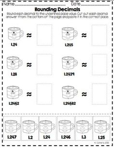 Christmas Decimals Worksheets by To the Square Inch- Kate Bing Coners   Teachers Pay Teachers