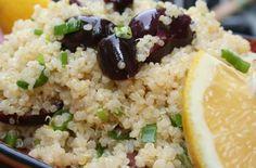 Recette d'une salade de quinoa au citron et aux olives