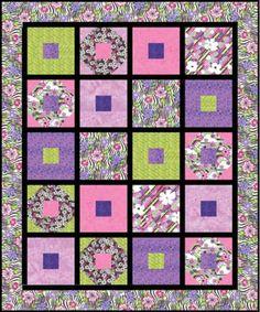 flower power quilt hoffman | Flower Power-Spring quilt top