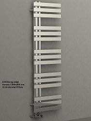 [Designbadheizkörper VERONA 1400 x 500 mm. Chrom Badheizkörper Handtuchtrockner Handtuchwärmer]