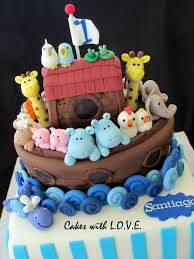 water and waves for noah's ark cake - Google Search