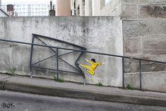 28 Obras de arte urbano que interactúan con el entorno de forma ingeniosa