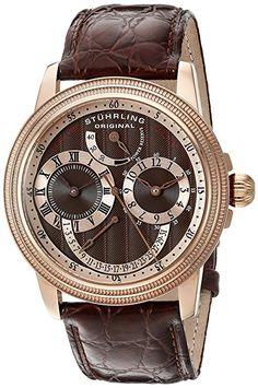 Stuhrling 283.3345K59 - Reloj , correa de goma color negro-PREFERIDO-