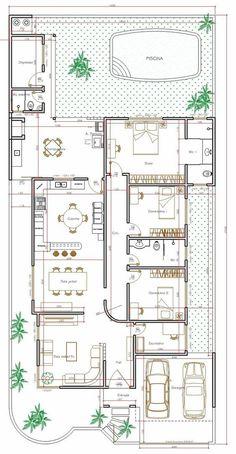 Rosamaria G Frangini House Layout Plans, Dream House Plans, Modern House Plans, House Layouts, Small House Plans, House Floor Plans, Home Design Floor Plans, Plan Design, Villa Design