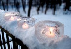 Use balloons to make ice candle holders