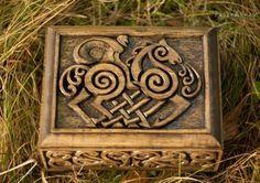 DeviantArt: More Artists Like Lid of Celtic box by pagan-art Viking Life, Viking Art, Viking House, Valhalla, Les Runes, Viking Culture, Pagan Art, Old Norse, Asatru