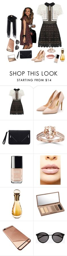 """Jaaaaaaaadde"" by ali-tomlinson21 on Polyvore featuring self-portrait, Rupert Sanderson, Bliss Diamond, Chanel, LASplash, Christian Dior, Urban Decay, Yves Saint Laurent, women's clothing and women"