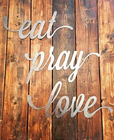 Eat Pray Love Handmade Wall Hanging Sign Kitchen By