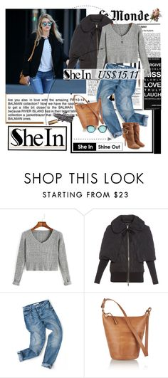 """Get the look: Shein.com"" by polyandrea ❤ liked on Polyvore featuring Victoria Beckham, H&M, Lancôme, Moncler, Clare V. and Burberry"