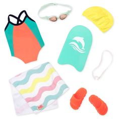 Our Generation Regular Outfit - Swimming Our Generation Doll Accessories, Our Generation Doll Clothes, Poupées Our Generation, Ropa American Girl, American Girl Doll Room, American Girl Crafts, American Girl Accessories, Baby Doll Accessories, Og Dolls