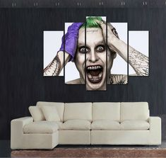 Unframed Halloween joker canvas picture poster modern home decor kids wall art print Halloween Painting on canvas Wall art >>> Read more info by clicking the link on the image. #HomeDecor