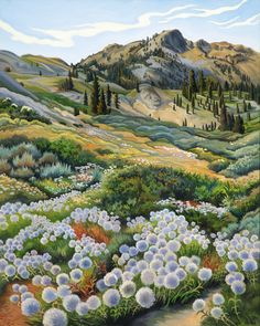 Phyllis Shafer paints directly from the natural environment, recording the particular idiosyncrasies and beauty of the natural form. Painting Inspiration, Art Inspo, Art Bizarre, Oil Painting Abstract, Watercolor Artists, Painting Art, Watercolor Painting, Landscape Paintings, Oil Paintings