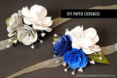 DIY Paper Corsages by Minted Strawberry