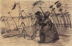Couple Out for a Stroll  Paris: August-September, 1887 (Amsterdam, Van Gogh Museum)