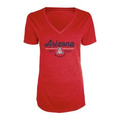 NCAA Women's Bright Spot V-Neck Bi-Blend T-Shirt Arizona Wildcats - XL, Multicolored