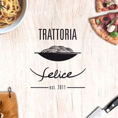 Trattoria Felice, italian restaurant. Logo Design by markos-esther