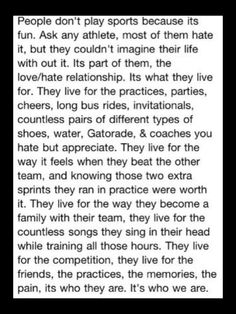So true finally an explanation for why I do Cross-country