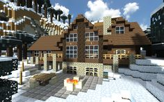 Minecraft House Cabin