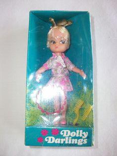 VINTAGE 1967 HASBRO DOLLY DARLINGS TOY DOLL MIB #Dolls