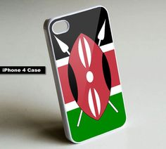Kenya Flag - iPhone 4 Case, iPhone 4s