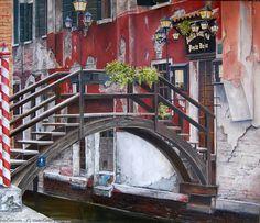 Marie-Claire Houmeau Le pont du restaurant de la poste Venise