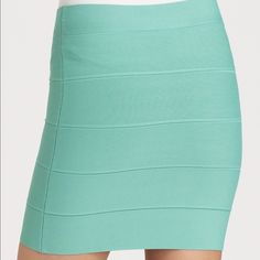 BCBGMAXAZRIA Bandage Skirt in seafoam New with tags! BCBGMaxAzria Skirts Mini