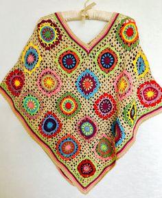 Crochet Poncho  Boho Style Ponch  Hippie Outfit Fahion