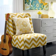 Owen Wing Chair - Gold Vibes @Jenni Ramoya Singletary  -- saw this at Pier 1 and thought of you!!