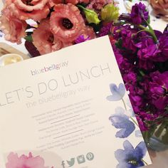 """""""Let's do lunch #thebluebellgrayway  Thank you so much to all our lovely guests for joining us! #bluebellgray"""""""