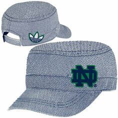 adidas Notre Dame Fighting Irish Ladies Engineer Military Adjustable Hat - Navy Blue/White
