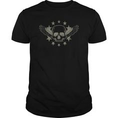 Bikers Skull with Wings 웃 유 and Stars TshirtBikers Skull with Wings and Stars Tshirtskull wings stars