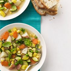 Try this recipe for a lighter version of traditional minestrone soup. Get the recipe.   - WomansDay.com