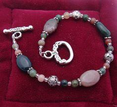 Beaded Bracelet Nice by TheBareFootJeweler on Etsy, $12.99