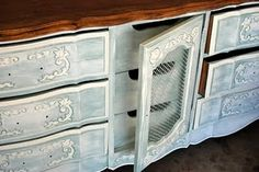 I have a dresser very similar to this. I want to try this look on it now.