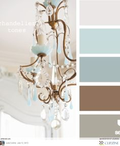 Color Palettes.  Gray, blue-gray and brown; very close to what I want for the living room