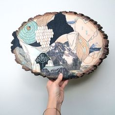 Fun Illustrations on Reclaimed Wood Celebrate the Enchanting Beauty of the Pacific Northwest - My Modern Met