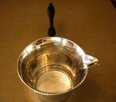 Sterling Silver Wood Handle Brandy Saucepan