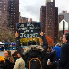 Oh snaps. | The 35 Best Signs From The NYC Marathon