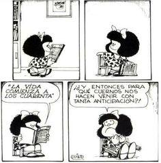 Mafalda. Simplemente increíble. Yo quiero ser como ella cuando sea grande.