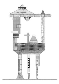 PROPOSAL FOR A SOCIAL CONDENSER 008 #architecture #drawing Pinned by www.modlar.com