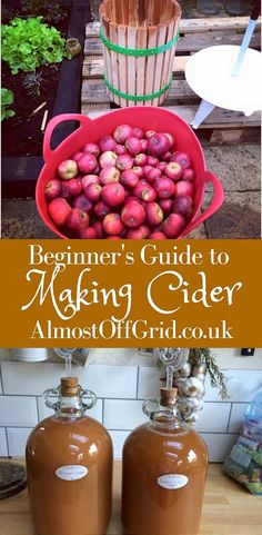 Making Cider from Apples