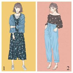 Pantalon and plouse Seoul Fashion, Fashion Art, Girl Fashion, Fashion Dresses, Womens Fashion, Korean Outfit Street Styles, Korean Outfits, Japanese Fashion, Korean Fashion