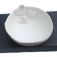 Handmade Ceramic Porcelain Heart Decorative by melissaceramics,