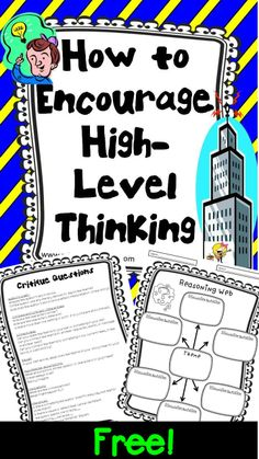 Questions building the foundation for critical thinking classroom poster