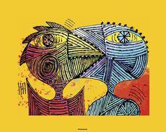 Raus Haus: RAUS Prints on canvas VI