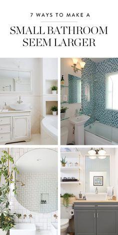 7 Genius Ways to Make a Small Bathroom Seem Larger via @PureWow