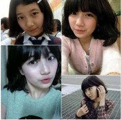 Suzy's middle school pictures were recently gaining attention.