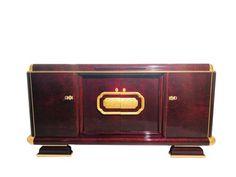 French Art Deco walnut sideboard with gold leaf elements - Catawiki Art Deco Sofa, Art Deco Desk, Art Deco Bar, 1920s Art Deco, Art Deco Period, Gold Leaf Furniture, 1920s Furniture, Selling Furniture, Art Deco Furniture
