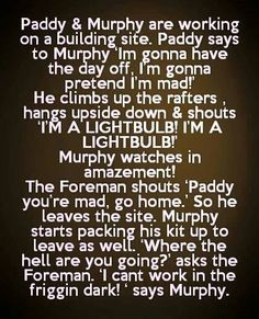 Paddy and murphy are working on a building site - funny irish jokes - http://jokideo.com/paddy-and-murphy-are-working-on-a-building-site-funny-irish-jokes/